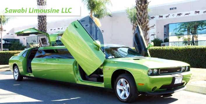 Салатовый лимузин фото