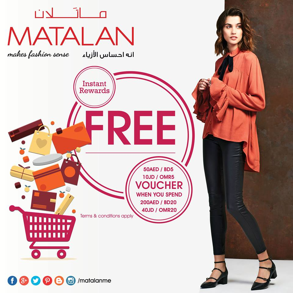 Scan through the Offers page for great deals and reductions of up to £20 off, active promo codes, great matalan sale offers. last chance clearance buys, 3 for 2's and home offers. Follow Matalan on Instagram, Twitter and Facebook for instant offer updates.
