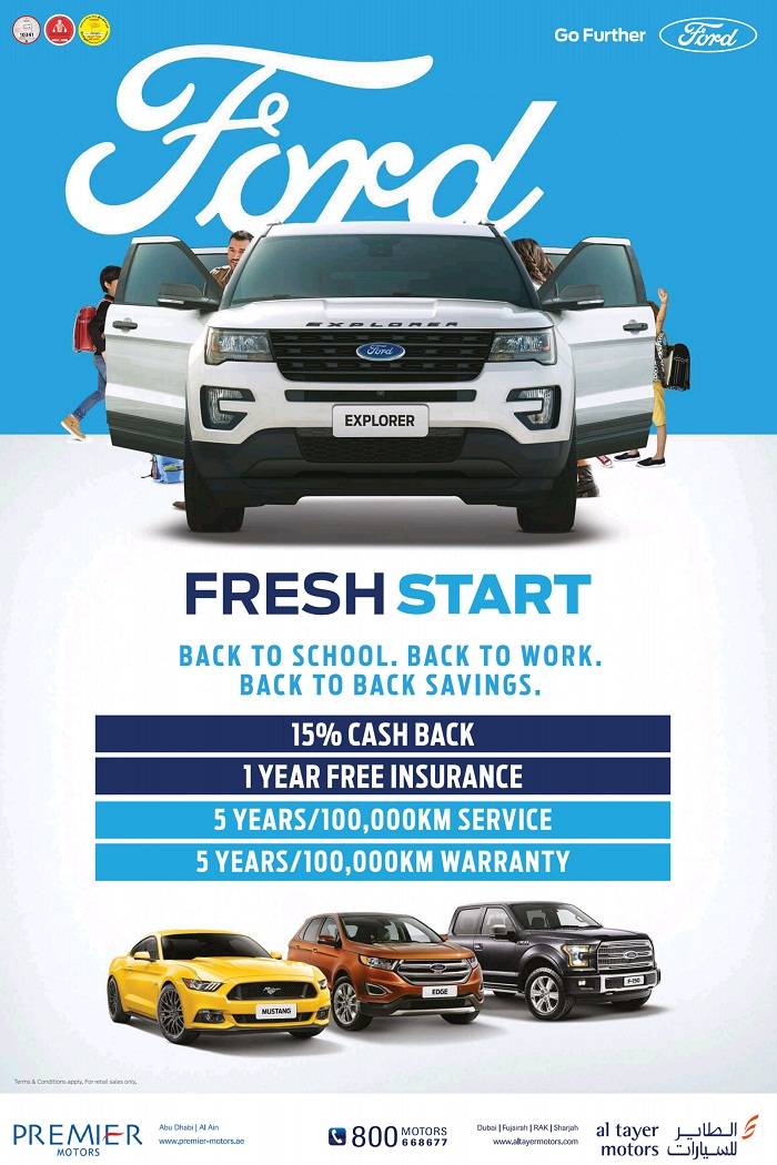 FORD UAE Sale & Offers Locations Store Info Ford Fresh Start Offers by Al Tayer Motors ...